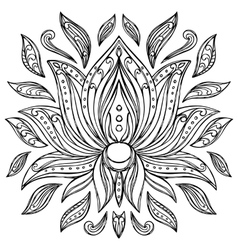 Doodle Lotus Sign vector image