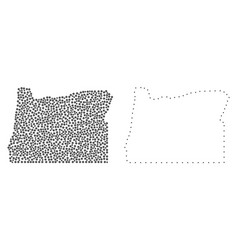 dotted contour map of oregon state vector image