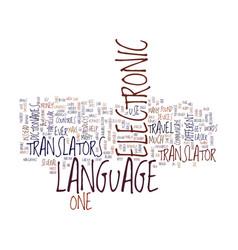 Electronic language translators text background vector