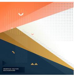 elegant memphis style modern background vector image
