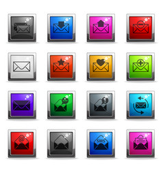 Envelope icon set vector