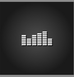 equalizer icon flat vector image
