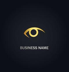 Eye see gold logo vector