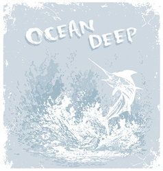 Fish ocean deep vector