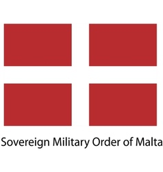 Flag the country sovereing military order of malta vector image