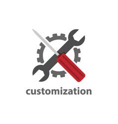 flat design website custom page icon element vector image
