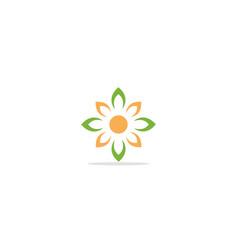 flower ornament logo vector image