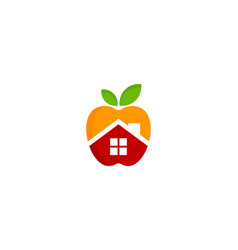 home fruit logo icon design vector image