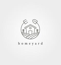 home yard landscape garden logo design farmhouse vector image