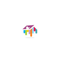 house paint color logo icon vector image