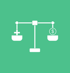 Icon scales with cross dollar vector