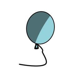 isolated balloon cartoon vector image