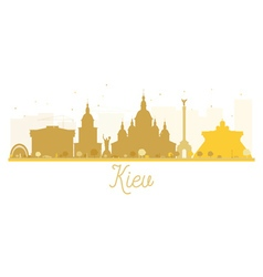 Kiev City skyline golden silhouette vector