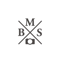 letter bms modern icon photography vector image