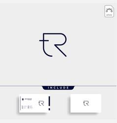 Letter tr rt r t logo design simple vector
