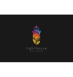 Lighthouse design rainbow lighthouse Lighthouse vector image