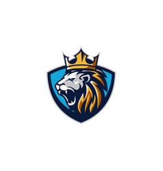 Lion king esport gaming logo vector