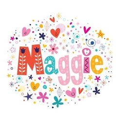 Maggie vector image
