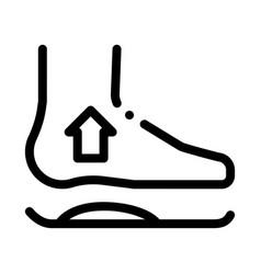 medical orthopedic foot equipment icon vector image