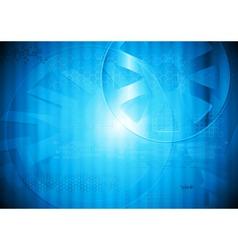 Modern blue tech design vector image