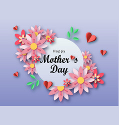 mother s day text design with paper hearts and vector image