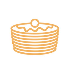 Pancakes line icon symbol for bakery production vector