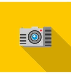 Photo camera icon in flat style vector image