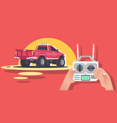 radio controlled car machine vector image