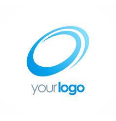 Round circle loop logo vector