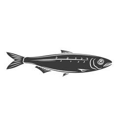 sardine fish glyph icon vector image