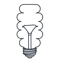 Saver bulb drawn isolated icon design vector