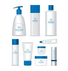 Sea Series Cosmetic Set Isolated vector