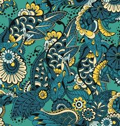 Seamless pattern green vector