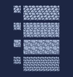 set of 8 bit 16x16 stone vector image