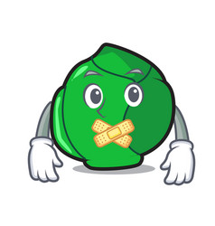 Silent brussels mascot cartoon style vector