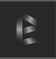 small letter e logo monogram minimal style with vector image