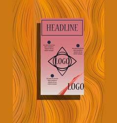 Square annual report brochure flyer design vector
