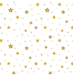 Stars seamless pattern white 3D retro vector