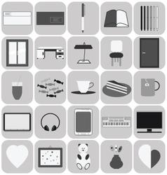 Studyflat icons vector image