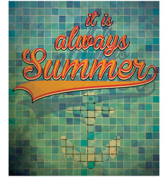 summer slogans hand drawn calligraphy summer vector image