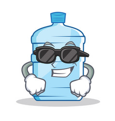 Super cool gallon character cartoon style vector