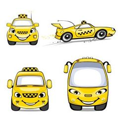 taxi cartoons vector image