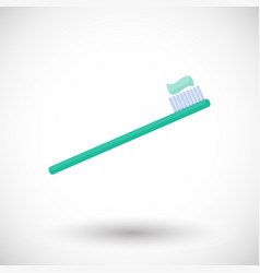 toothbrush flat icon vector image vector image