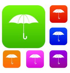 umbrella set collection vector image