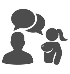 User chat with naked lady flat icon vector