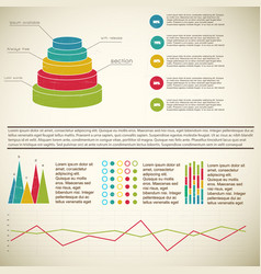 vintage 3d diagram infographic vector image