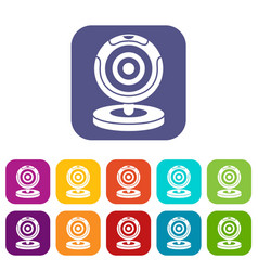 Webcam icons set vector
