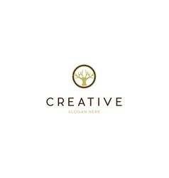 Wooden craftsman creative business logo design vector