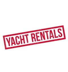 Yacht Rentals rubber stamp vector