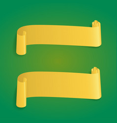 yellow ribbon banners web for vector image